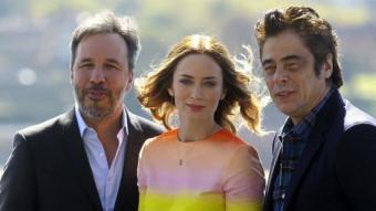 Denis Villeneuve, Emily Blunt i Benicio del Toro van presentar la pel·lícula 'Sicario' JUAN HERRERO / EFE