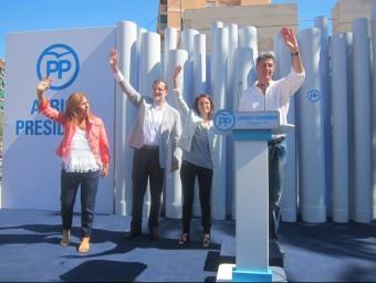 Alícia Sánchez Camacho, Mariano Rajoy, Andrea Levy i Xavier García Albiol EP