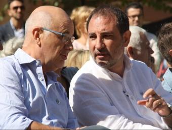 Els candidats Ramon Espadaler i Josep Antoni Duran i Lleida a la Festa de la Família d'Unió, a Santa Coloma de Gramenet ACN