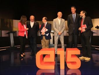 Els cap de llista de les candidatures del 27-S, al debat de TV3 ANDREU PUIG