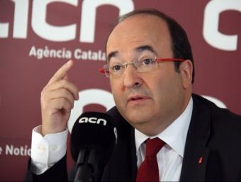 Miquel Iceta, en una roda de premsa a l'ACN ACN