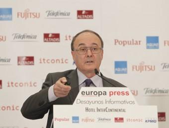 Luis María Linde, governador del Banc d'Espanya.europa press