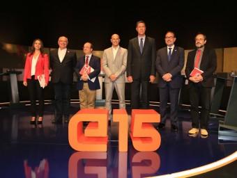 Els candidats al 27-S en el debat de TV3 de diumenge passat ANDREU PUIG