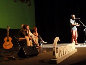 El teatre es va omplir en un acte on també van intervenir Toia Codina i Martí Lleixà. J.C
