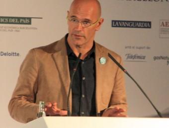 Romeva,m durant la conferència d'aquest dimecres ACN