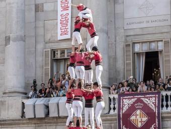 El 4 de 9 dels Castellers de Barcelona JOSEP LOSADA