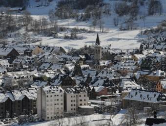 Vielha en una imatge hivernal. L'Aran és una potència turística, sobretot els mesos d'hivern ARXIU