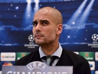 Guardiola, durant una roda de premsa del Bayern Europa Press