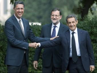 Garcia Albiol, Rajoy i Sarkozy, aquest divendres a Barcelona EFE