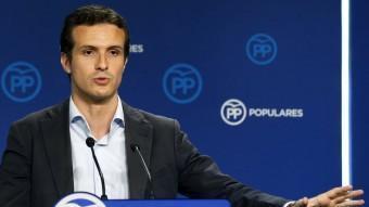 Pablo Casado (PP) anit, valorant els resultats del 27-S EFE