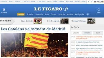 Portada de l'edició digital de 'Le Figaro' d'aquest diumenge ACN
