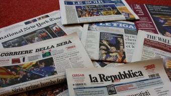 Diaris en paper on surt en portada el resultat de les eleccions del 27-S ACN