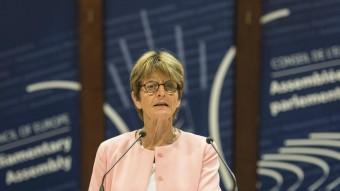 Anne Brasseur, presidenta de l'Assemblea Parlamentària del Consell d'Europa, aquest dilluns a Estrasburg EFE