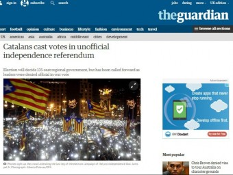 L'article del diari 'The Guardian' sobre les eleccions del 27-S ACN