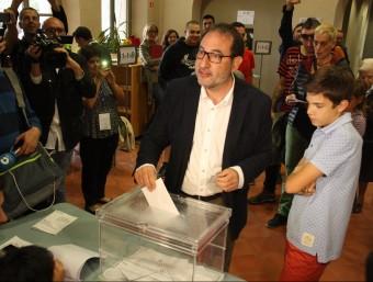 El cap de llista d'Unió, Ramon Espadaler, ha votat al Palau Bojons de Vic ACN