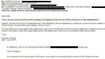 Resposta de Francesc Gambús (UDC) al correu de Pagazaurtundúa (UPyD) ACN