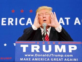 El magnat immobiliari i precandidat republicà a la presidència dels Estats units, Donald Trump, en el míting a Keene, a New Hampshire REUTERS