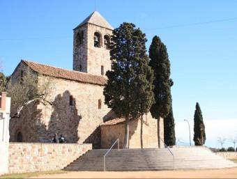 Imatge de l'església Santa Maria de Barberà, la Romànica, situada al municipi de Barberà del Vallès AJ. BARBERÀ