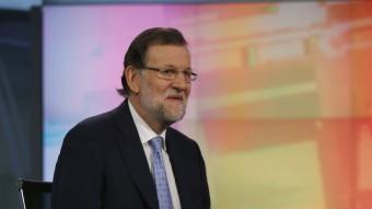 El president del govern espanyol, Mariano Rajoy, en un moment de l'entrevista EFE