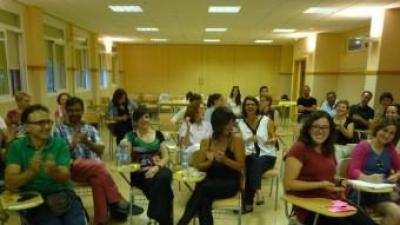 """Algunes de les persones participants en la primera jornada de contacte de """"Tejiendo Villar"""". ESCORCOLL"""