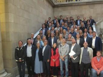 Els 62 diputats electes de Junts pel Sí al Parlament EP