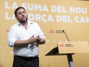 El president d'ERC, Oriol Junqueras, al Consell Nacional d'Esquerra JOSEP LOSADA