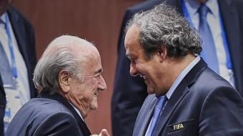 Josep Blatter i Michel Platini. AFP