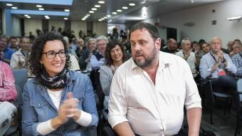 Oriol Junqueras i Marta Rovira, aquest dissabte al consell nacional d'ERC JOSEP LOSADA