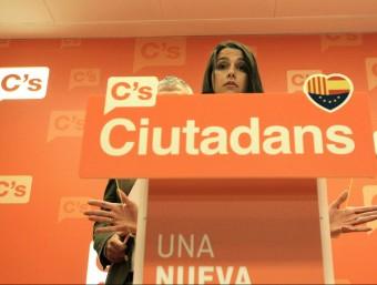 La líder de Ciutadans, Inés Arrimadas, en roda de premsa EFE