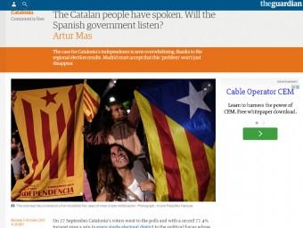 L'article d'Artur Mas al web 'The guardian'