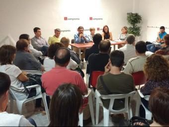 Aspecte parcial de la reunió de regidors i alcaldes de la Safor. CEDIDA