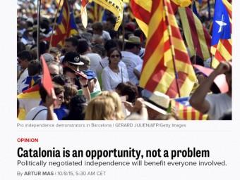 L'article d'Artur Mas an 'Político'