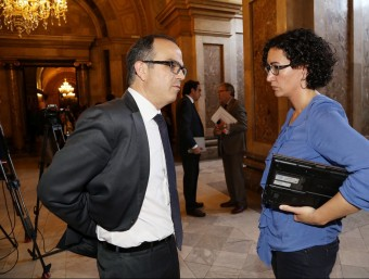 Jordi Turull i Marta Rovira en una imatge d'arxiu ANDREU PUIG