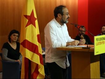 Antonio Baños, aquest dijous en la conferència de la CUP JUANMA RAMOS