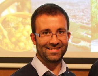 D'esquerra a dreta, Joaquim Roca, president entrant, amb el fins ara president, Jordi Munell CONSORCI ALBA TER