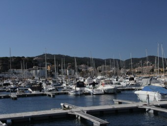 La zona d'amarradors del Club Nàutic de Sant Feliu de Guíxols, al port ganxó E.A.