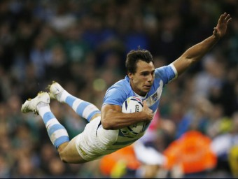 Imhoff, anotant una de les marques dels argentins en el duel d'ahir. REUTERS