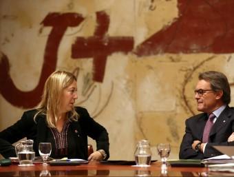 Munté i Mas durant la reunió del consell executiu d'aquest dimarts EFE