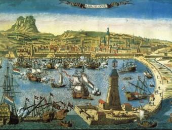 El Port de Barcelona ha estat sempre una gran estructura de foment del comerç.  ARXIU