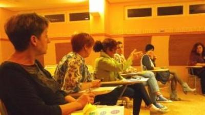 Assemblea de posta en comú dels acords de la reunió. ESCORCOLL