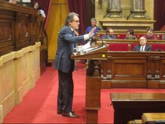 El president de la Generalitat, Artur Mas, en un ple del Parlament el passat juny EUROPA PRESS