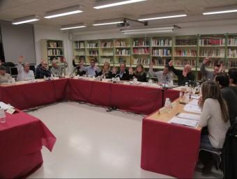 L'aprovació del punt, sense suport dels dos edils d'ICV, ahir al vespre E.A