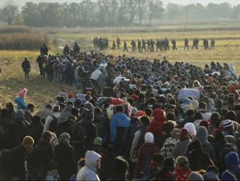 Milers de persones han arribat a Eslovènia aquest dimecres REUTERS/ANTONIO BRONIC
