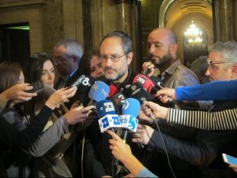 El diputat de la CUP Antonio Baños, aquest divendres al Parlament EUROPA PRSES