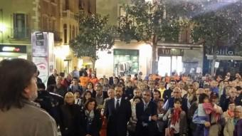 Manifestació en suport dels imputats que es va fer a Figueres. EPA