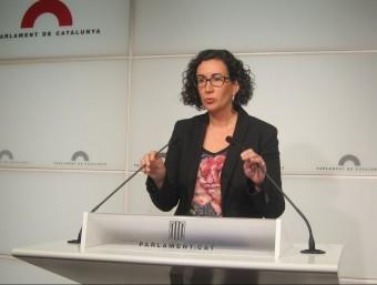Marta Rovira, portaveu de JxSí, aquest dilluns al faristol del Parlament EUROPA PRESS