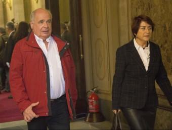 Lluís Rabell, diputat de Catalunya Sí que es Pot, aquest dilluns al Parlament ALBERT SALAMÉ