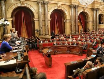 La presidenta del Parlament, Carme Forcadell, parla durant la sessió de constitució del Parlament de l'onzena legislatura andreu puig