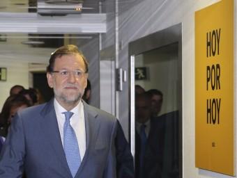 El president espanyol a la seu de la Cadena Ser EFE
