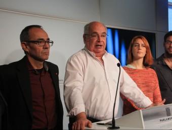 Lluís Rabell durant la roda de premsa de Catalunya Sí Que es Pot ACN